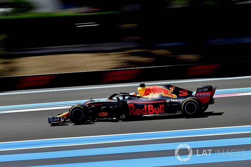 Red Bull diz ter perdido 0s7 somente nas retas na França