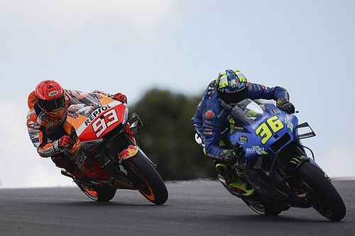 Mir forced into hard Marquez Portugal MotoGP overtake