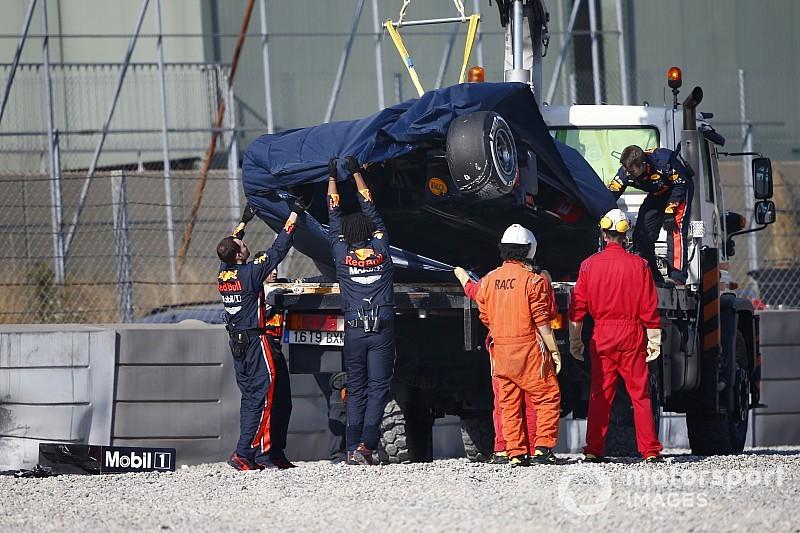 Gasly, Barcelona'daki ikinci testte büyük bir kaza yaptı