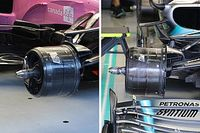 How similar are the Racing Point and Mercedes brake ducts?
