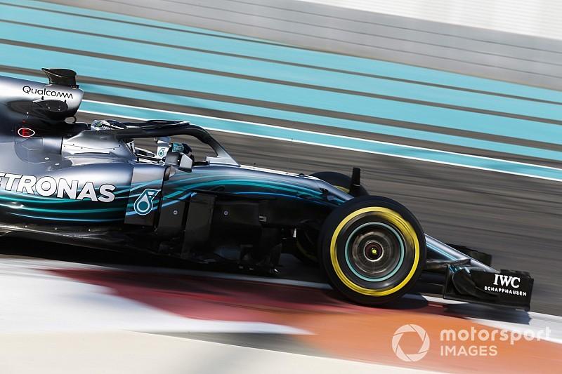 Bottas manda al final de la primera mañana del test en Abu Dhabi
