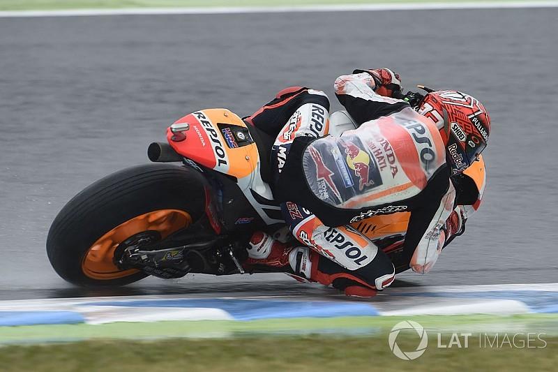 EL4 - Avant les qualifs, Márquez assomme et Rossi chute