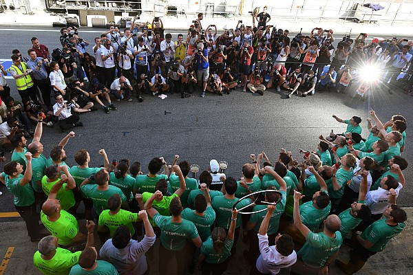 Story behind the photo: Hamilton's flashy victory celebrations