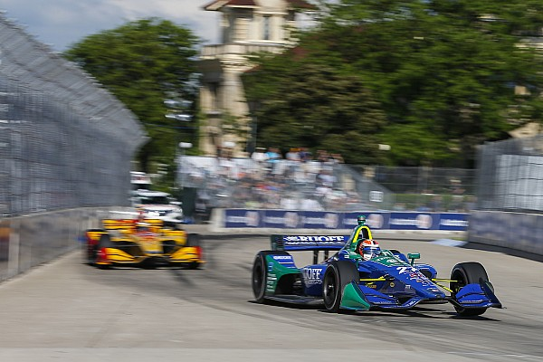 "IndyCar Rossi admits Detroit error but ""conceding a win isn't going to happen"""