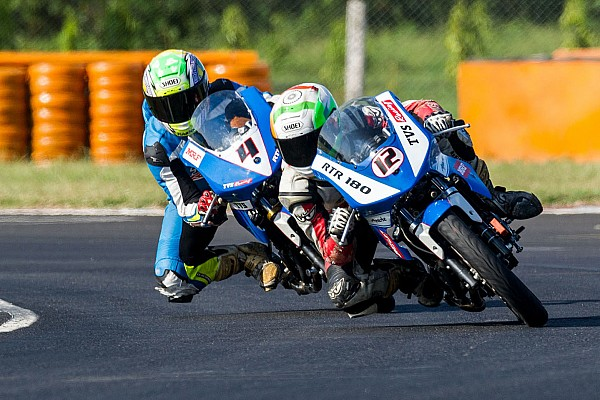 Indian Bike Race report Chennai III Super Sport: Subramaniam leads TVS 1-2-3 in both races
