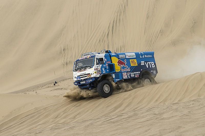 Dakar, Camion, Tappa 2: lo zar Nikolaev imprime il passo Kamaz