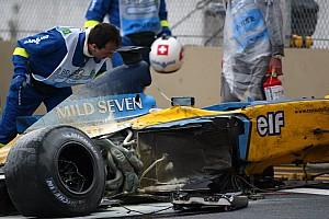 Fórmula 1 Historia GALERÍA: el accidente de Alonso en Interlagos que lo envió al hospital