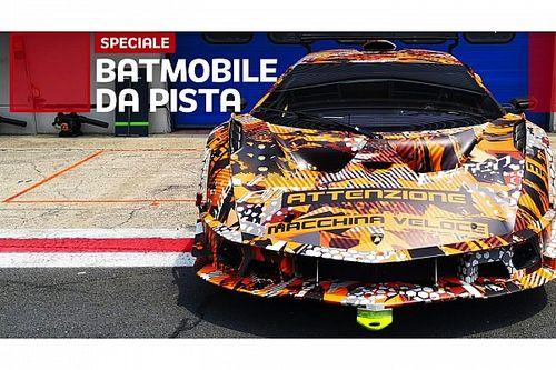 Lamborghini SCV12, incontro ravvicinato nei test in pista