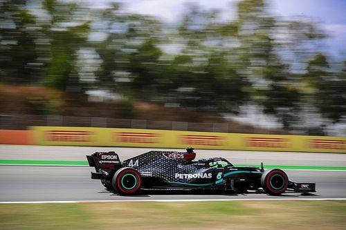 Hamilton lidera nova dobradinha da Mercedes no TL3 do GP da Espanha marcado por batida de Ocon no final