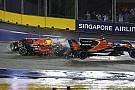 BRÉKING: Vettel, Räikkönen és Verstappen is azonnal kiesett Szingapúrban