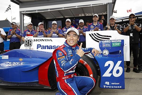 IndyCar Sato centra la pole per Gara 2 e regala l'intera prima fila al team Andretti