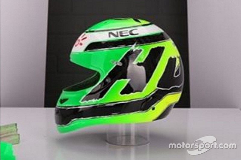 Hulkenberg revela nueva pintura de su casco para 2016