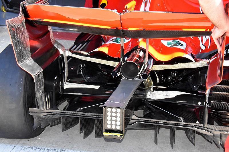 Ferrari: anche nel diffusore posteriore ci sono modifiche per migliorare l'efficienza