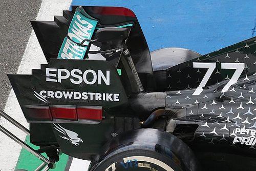 Mercedes: l'ala posteriore è piatta tanto è scarica