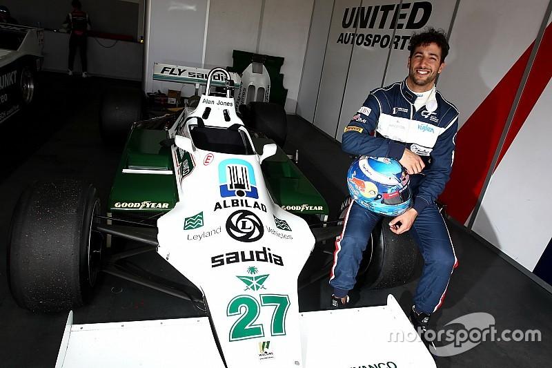 ابتسامة ريكاردو تعود مجدداً إثر قيادته لسيارة ويليامز حاملة اللقب في الفورمولا واحد