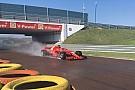 Giovinazzi a Fiorano sulla Ferrari SF71H per il test Pirelli sul bagnato