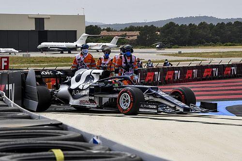 Tsunoda start Franse GP vanuit de pitstraat na bakwissel