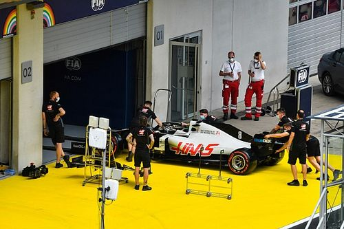Grosjean escapes exclusion after parc ferme breach