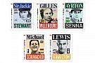 Cinq timbres en l'honneur de légendes de la F1