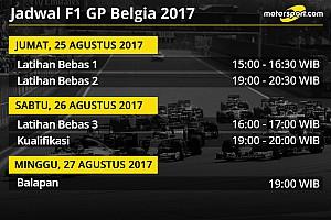 Formula 1 Preview Jadwal lengkap F1 GP Belgia 2017