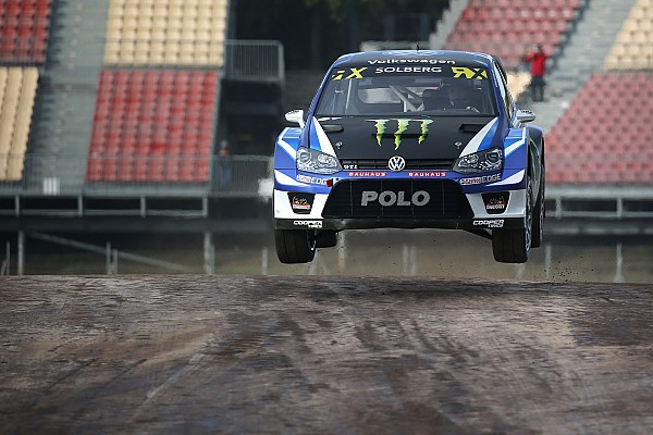 World Rallycross Qualifying report Portugal WRX: Solberg leads Ekstrom after qualifying