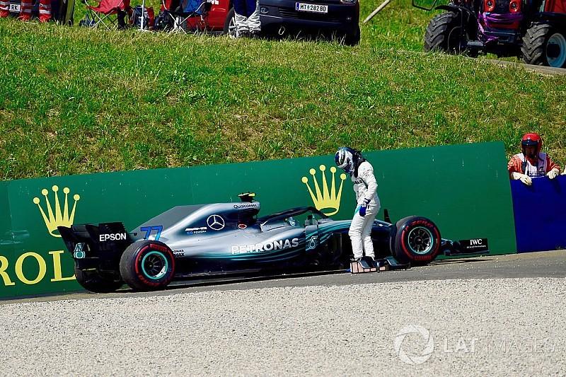 Mercedes busca puntos débiles desconocidos tras la doble falla en Austria