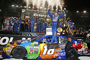 NASCAR Cup Race report Kyle Busch completes Bristol hat trick with Cup win