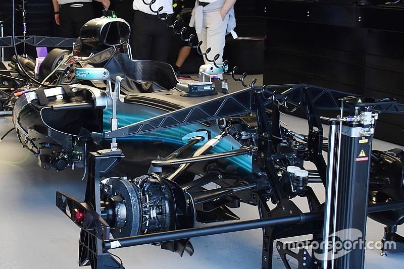 Mengintip komponen kunci mobil F1 di GP Australia
