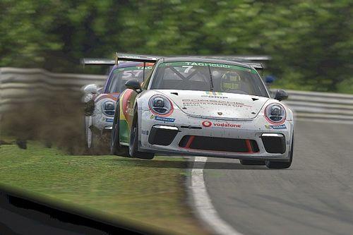Giassi faz uma dúzia de ultrapassagens em Nordschleife e segue entre os 10 da Porsche TAG Heuer Esports Supercup