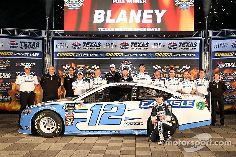 Ryan Blaney centra la pole in Texas in una Qualifica dominata dalle Ford