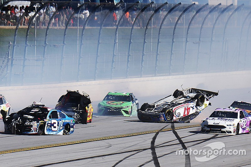 Crash Sends Cars Airborne At Talladega Video