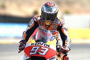 MotoGP Ultime notizie Aragon, Warm-Up: Marquez al top, Rossi nono e le Ducati indietro