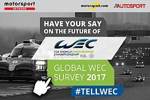 WEC Motorsport.com hírek A WEC is elindította globális felmérést a Motorsport.com-on!