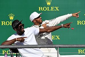 Forma-1 Különleges esemény A fotós szemével: Hamilton, Usain Bolt és a közös ünneplés