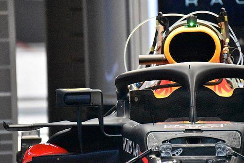 Red Bull copies Ferrari rear view mirror design