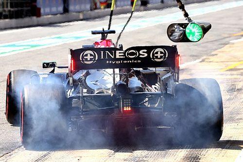 Mercedes explica por qué decidió salir en Barcelona con blandos