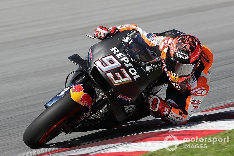 Test MotoGP Sepang, Giorno 1, Ore 14: Marquez detta il ritmo anche se non è al 100%