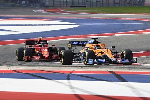 """Sainz: Actie Ricciardo in Austin """"op de grens van het toelaatbare"""""""