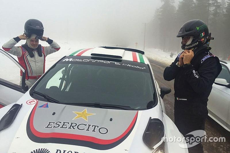 Rendina nel WRC2 con la livrea dell'Esercito Italiano