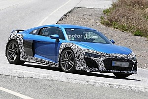 Automotive Breaking news Spied Audi R8 with oval exhaust could be GT model