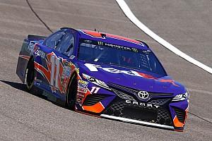 NASCAR Cup Practice report Hamlin leads Earnhardt in second practice, Truex scrapes the wall