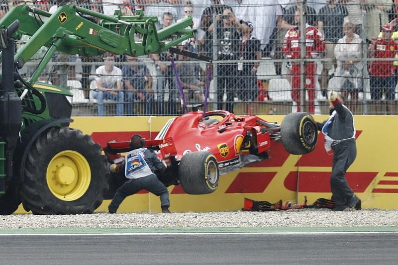 Video: Vettel kaza yaparak yarışa veda ediyor