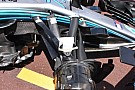 Formula 1 Mercedes: più angolo di sterzo nella sospensione anteriore