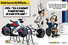 Formule 1 Cartoon van Cirebox - Straf voor Stroll...