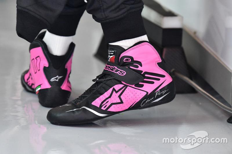 Sergio Pérez, Sahara Force India, y sus botas Alpinestars