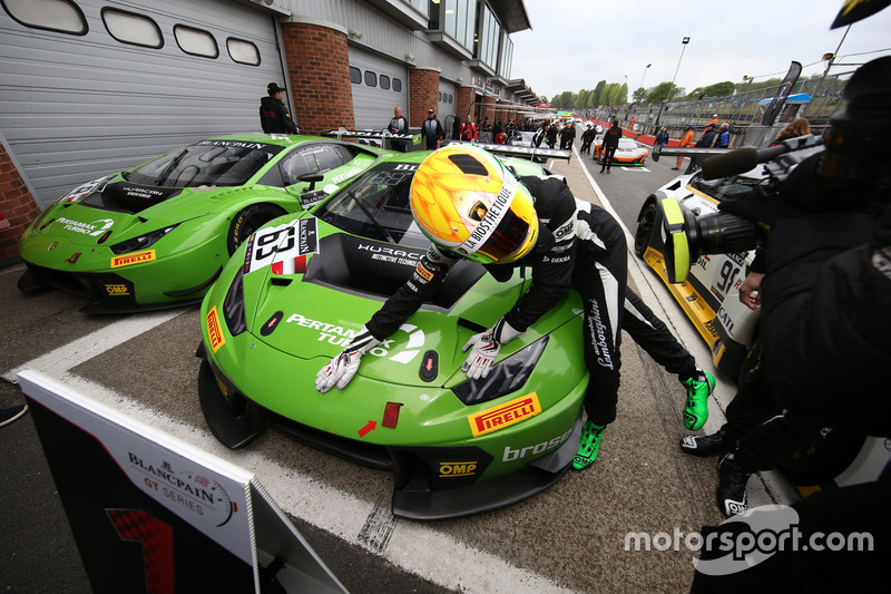Race winners Christian Engelhart, Mirko Bortolotti, GRT Grasser Racing Team