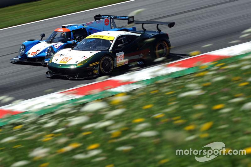 #55 Spirit of Race, Ferrari F488 GTE: Duncan Cameron, Matt Griffin, Aaron Scott, #8 Duqueine Engineering, Ligier JS P3 - Nissan: Maxime Pialat, Vincent Beltoise, Henry Hassid