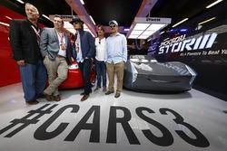 Кевін Рехер, Брайан Фі, Вуді Гаррельсон і Оуен Вілсон у промо-гаражі стрічки