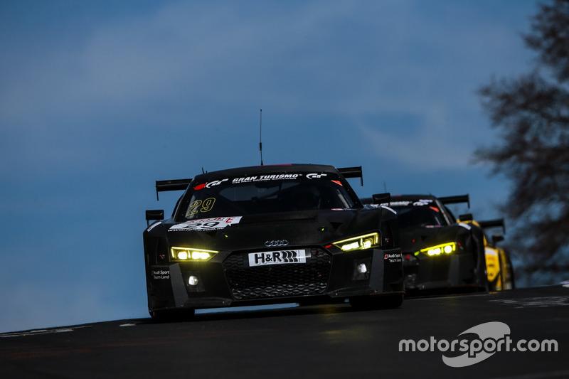 #29 Audi Sport Team Land Motorsport, Audi R8 LMS: Pierre Kaffer, Christopher Haase