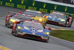 #66 Ford Performance Chip Ganassi Racing, Ford GT: Joey Hand, Dirk Müller, Sébastien Bourdais; #67 F